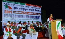 People's Struggle for Democracy  Public Programe and Huge Rally in Bangalore