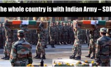 The whole country is with Indian Army